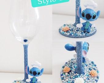 Disney stitch glass (10 options)