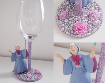 Disney glass Fairy godmother