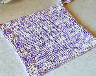 Potholder knitting pattern, double knitting colorwork pattern, knit dishcloth, kitchen accessory, two color hearts potholder, cotton cloth