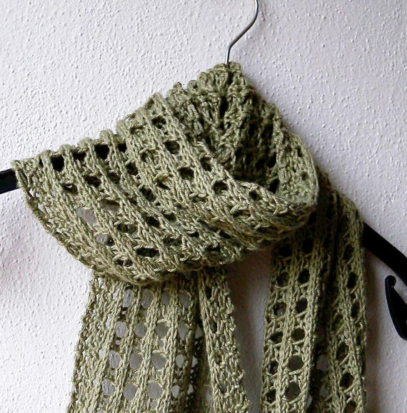 Summer Scarf Knitting Pattern Lace Scarf Easy Pattern Aran Etsy