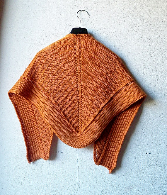 Shawl Knitting Pattern, brioche pattern, prayer shawl, tuck stitch ...