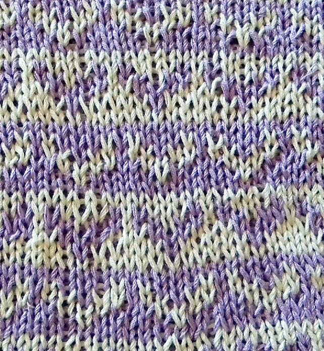 Potholder knitting pattern double knitting colorwork pattern | Etsy