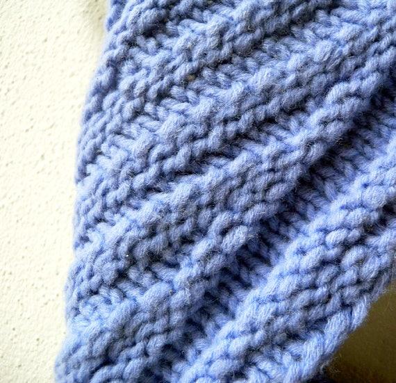 Unendlichkeit Schal stricken Muster mit sperrigen Garn | Etsy