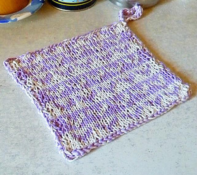 Potholder Knitting Pattern Double Knitting Colorwork Pattern Etsy