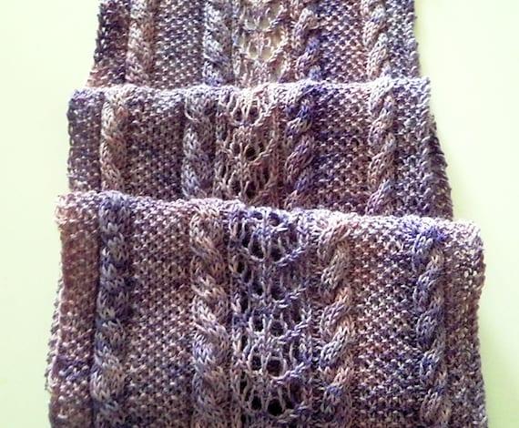 Echarpe modèle à tricoter pour le doigté de laine à chaussette   Etsy cfa21565c18