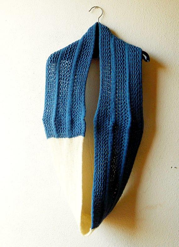 Infinity Scarf Knitting Pattern Using Fingering Weight Sock Yarn In