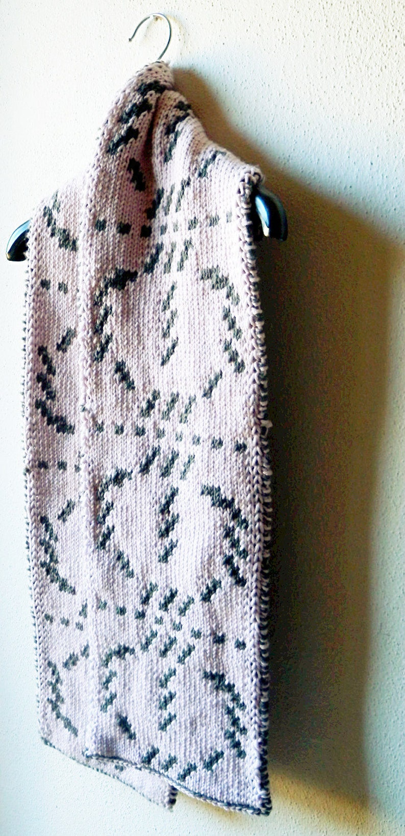 Scarf knitting pattern reversible scarf double knit | Etsy