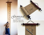 Growscroll ® Classic Growth Chart / Height Chart (Unique Australian Trademarked Customizable Wood & Canvas Growth Chart)