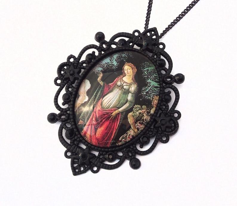 Victorian Gothic Neckalce Renaissance Necklace Black Cameo Necklace Primavera Necklace