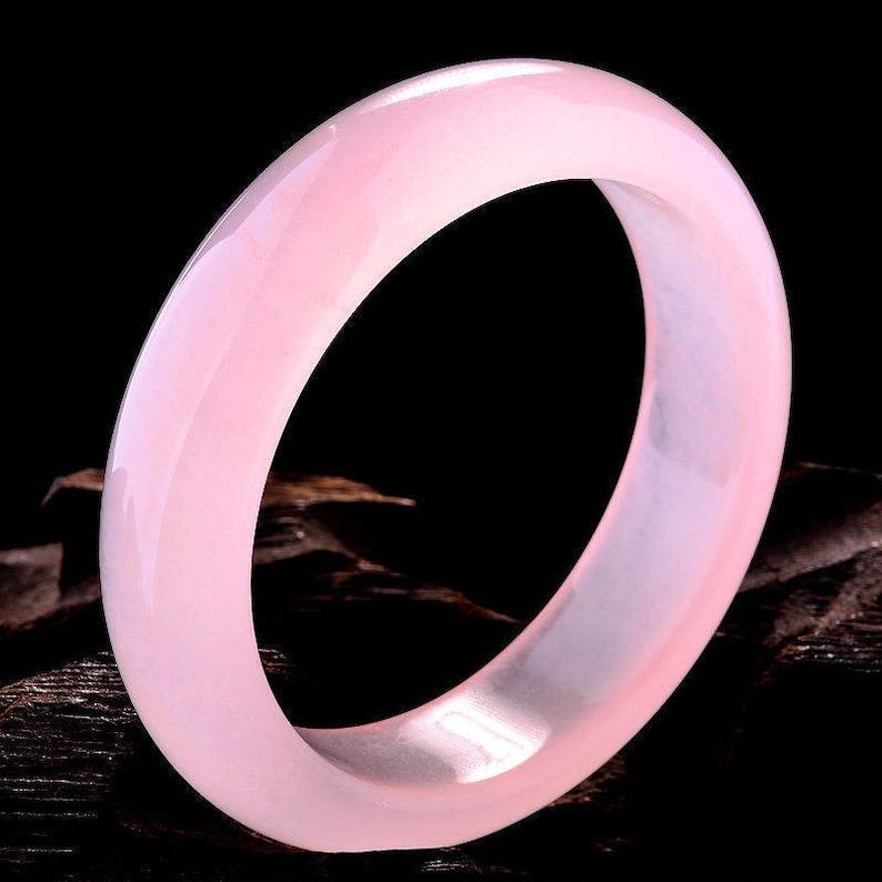 585960 mm Certified Natural Pink Emerald A*Jade HandCarved Bangle 10/% OFF
