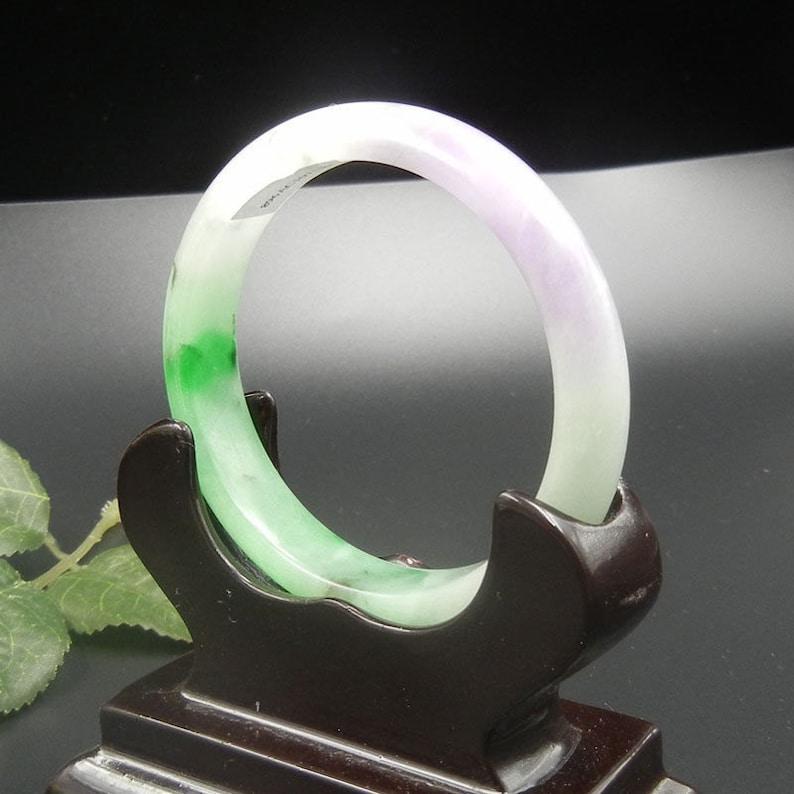 555657mm Certified Natural Ice Jadeite Emerald Jade Bangle\u300aGrade A\u300bA3272 10/% OFF
