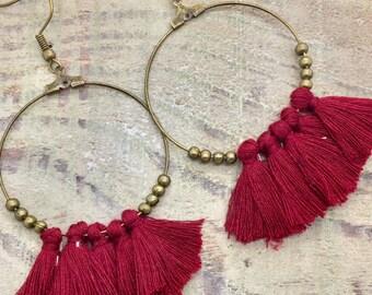 Kit earrings ' ear tassels
