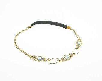 headbands head blue cabochon KHB03 /bijoux Kit