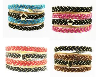 Kit XL bracelets double star in 4 colors
