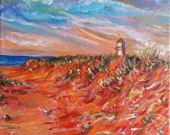 "Original Oil Painting, Landscape Canada, 12""x12"", 1806046"