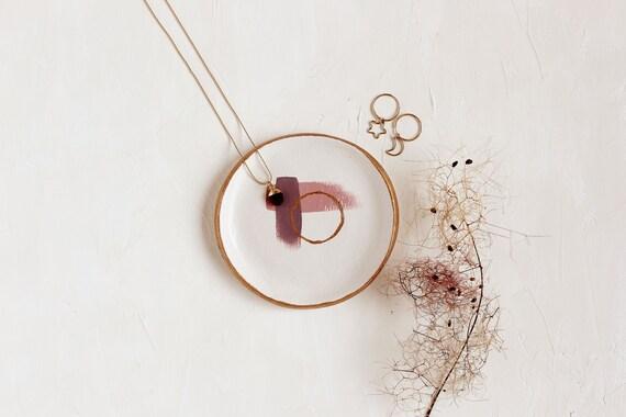 Purple Ring Holder jewelry ring storage merlot ring dish