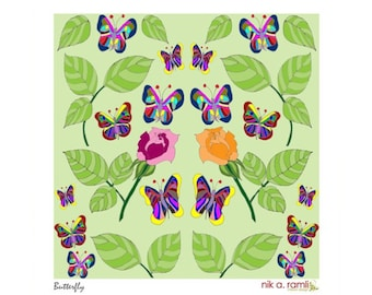 Modern Art Butterfly Giclee Limited Edition