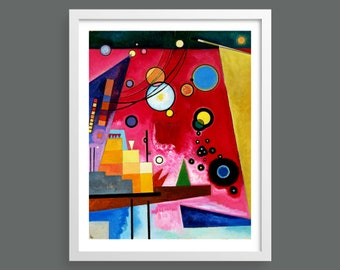 Heavy Red by Kandinsky   Abstract modern art   Fine art Giclee print   Bauhaus   Vintage modernist wall decor