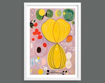 Hilma af Klint, The Ten Largest, No. 7, Adulthood | Abstract Art, Home Decor, Fine Art Reproduction | Wall art poster print | Modernist