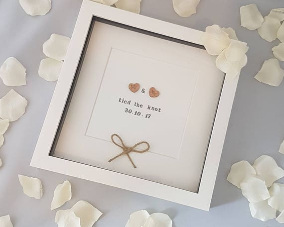 Mr Mrs Tied The Knot Wedding Gift Wedding Frame Etsy