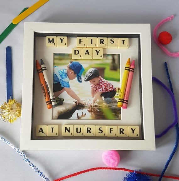 First Day At School Frame First Day At Nursery Frame School Etsy