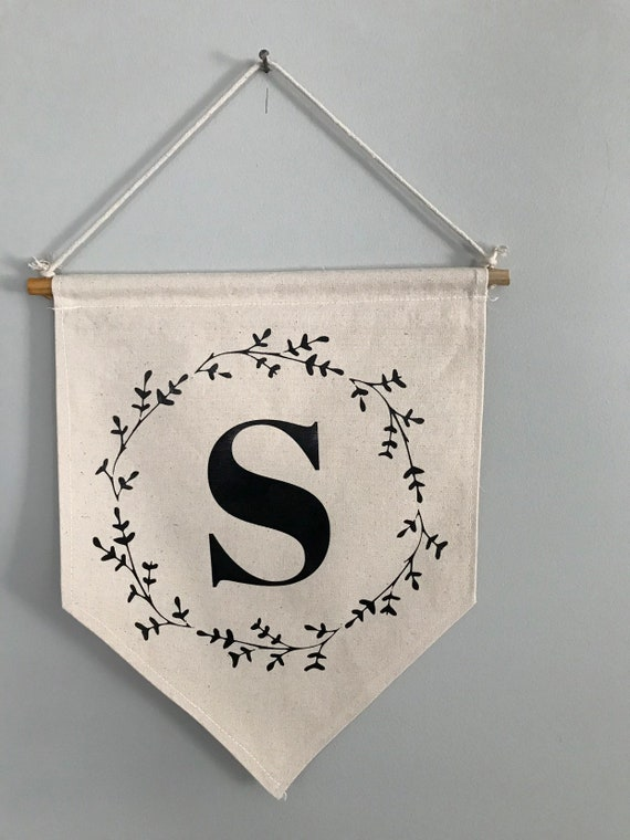 Personalized/Custom monogram canvas banner