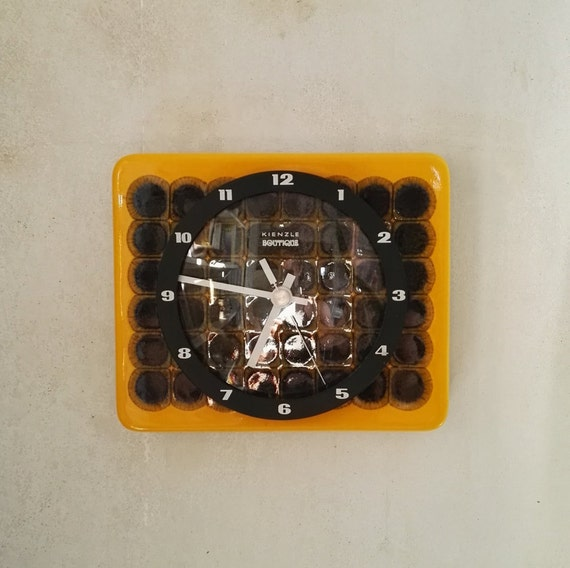 Vintage Kienzle ceramic wall clock, clock, Midcentury and 1960ziger years,  contemporary design, Interior, vintage, functional kitchen wall clock