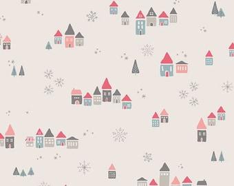 Art Gallery Fabrics Little Town line, Snowdrift Joy fabric