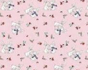 Pixie Noel Pink Bunnies by Tasha Noel for Riley Blake