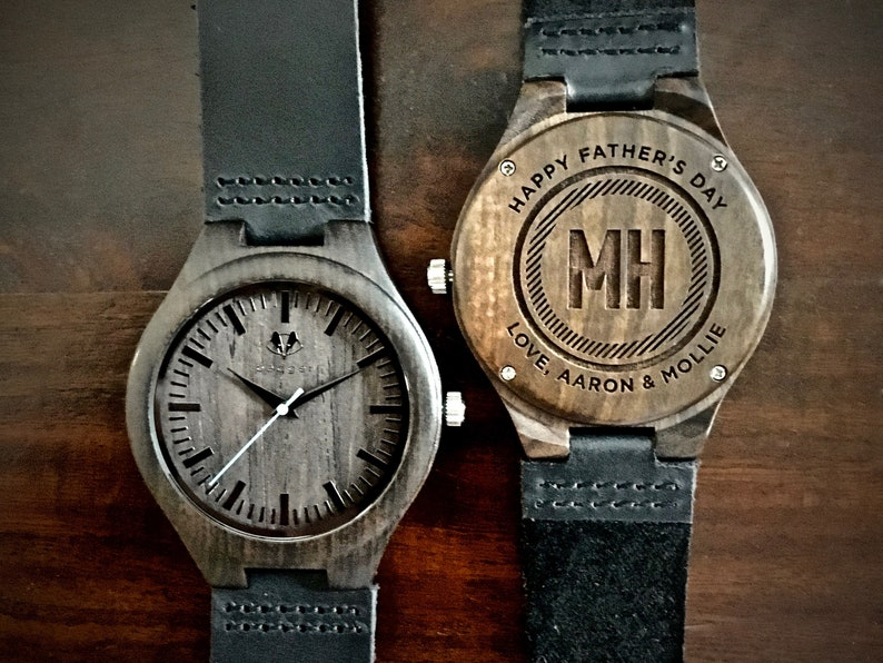 Father's Day Gift Mens Watch Personalized Wooden Watch