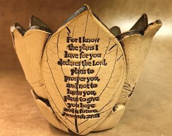 Medium Scripture Dogwood Bowl 120