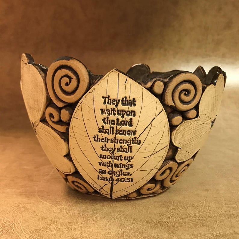 Medium Scripture Dogwood Bowl 41