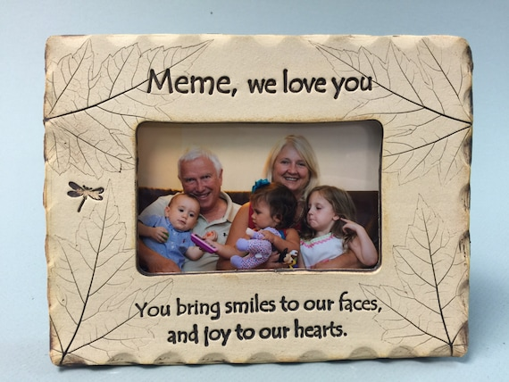 Infusion Gifts Abuelita /& Me Black Small Engraved Photo Frame
