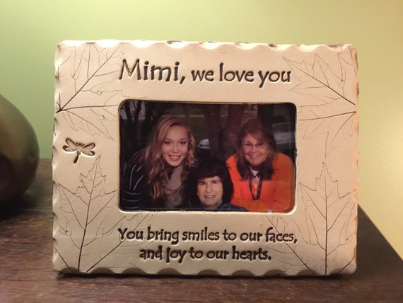 Mimi Frame Mimi We Love You Picture Frame Etsy