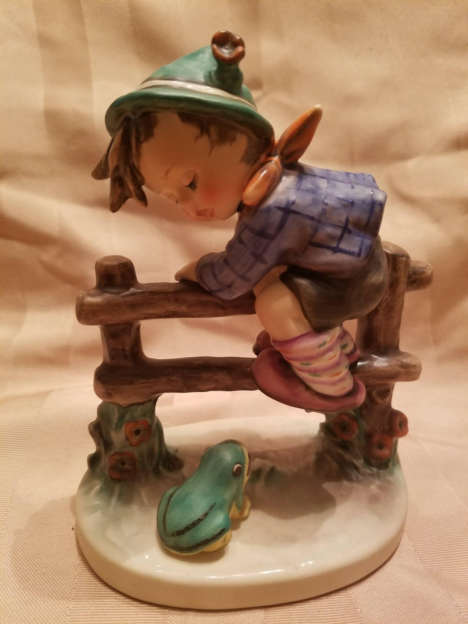 "Goebel M.I. Hummel Figurine ""Retreat To Safety"" #201/I Trademark 5 Artist Initials and Date 1948"