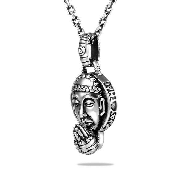 447 Anhänger Buddha Akshobhya ~ 925er Silber