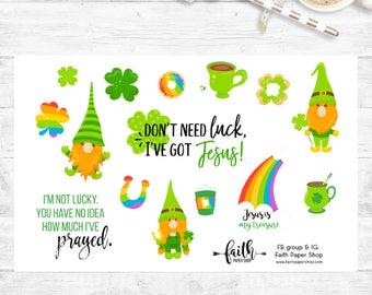 St Patricks Stickers, Planner Stickers, Deco Stickers, Happy Planner, ECLP stickers, Lucky, Blessed