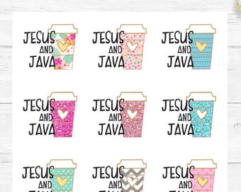 Jesus and Java Planner Stickers, perfect for your Happy Planner, Erin Condren Lifeplanner™, Filofax, Bullet Journal and many others!
