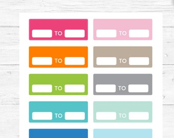 Activity Tracker Stickers, Planner Stickers, Hourly Work Stickers, For any Planner, Chore Stickers, Reminder Stickers, Planner Basics #06