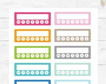 Weekly Activity Habit Tracker, Planner Stickers, Exercise Stickers, For any Planner, Chore Stickers, Reminder Stickers, Planner Basics #05
