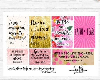 Stickers perfect for your Daily Planner or Bible Journaling. Sticker Pack, Illustrated Faith, Happy Planner, Erin Condren, Filofax, Bible