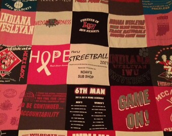 Custom made Tshirt Blanket (25 shirts)