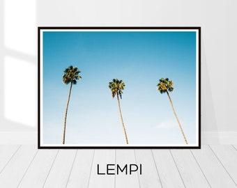 Tropical Print, Palm Print, Palm Poster, Palm Tree Print, Palm Leaf Print, Coastal Decor Beach, California Print, Palm Tree Decor, Printable