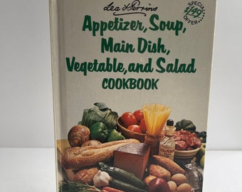 Appetizer, Soup, Main Dish, Vegetable, and Salad Cookbook - Lea and Perrins - Vintage Cookbook - 1970s Cookbook - Vintage Recipe Collection