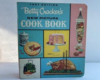 Betty Crocker New Picture Cook Book - Text Edition - 1960s Cookbook - Vintage Kitchen - Vintage Cookbook - Recipe Book - Cookbook Binder