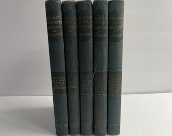 Women's Institute Library of Cookery Volumes 1-5 - Vintage Cookbooks - 1920s Cook Book - Vintage Kitchen - Vintage Recipes - Cookbook Set