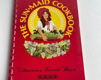 The Sun-Maid Cookbook - Raisin Recipes - Vintage Cookbook - 1980s Cookbook - Vintage Kitchen - Recipe Collection - Growers of California