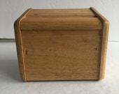 Wood Recipe Box - 4 x 6 Recipe Box - 1970s Recipe Box - Recipe Storage - Vintage Recipe Box - Vintage Kitchen Decor - Wood Kitchen