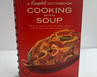Campbell's Cooking with Soup - Vintage Cook Book - 1960s Cook Book - Campbell's Soup Recipes - Vintage Kitchen - 1960s Kitchen Decor
