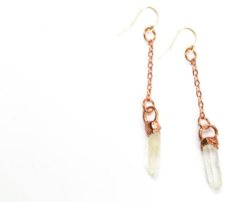 Raw Crystal Earrings Dangle Earrings Healing Earrings Crystal Earrings Raw Quartz Crystal Gift for Her WHOLESALE Quartz Earrings